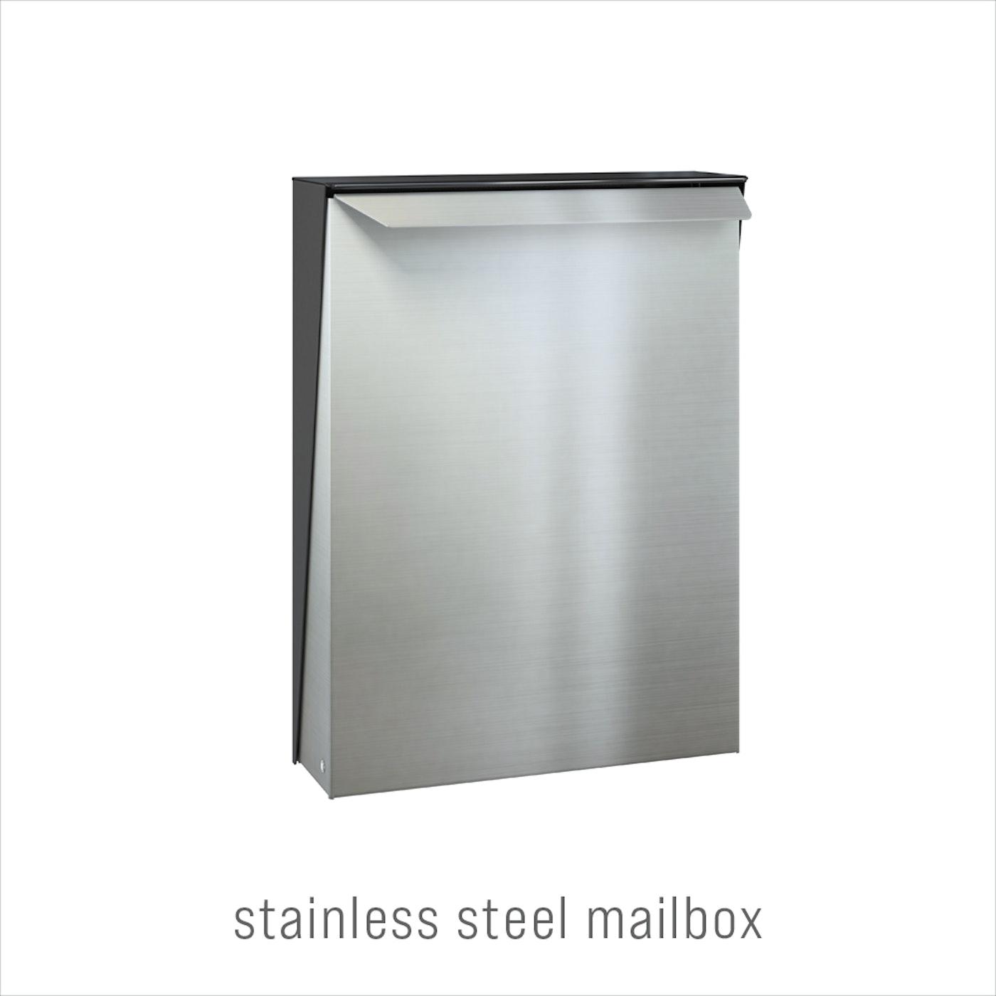 door accessories stainless steel mailbox beige Urban Front 1