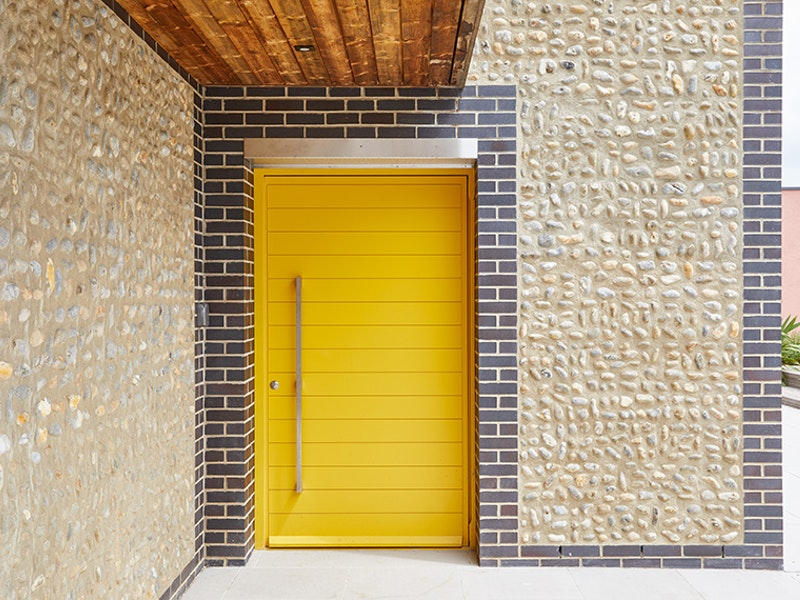 We've always loved a yellow door - this one is famous in Norfolk because it attracts attention