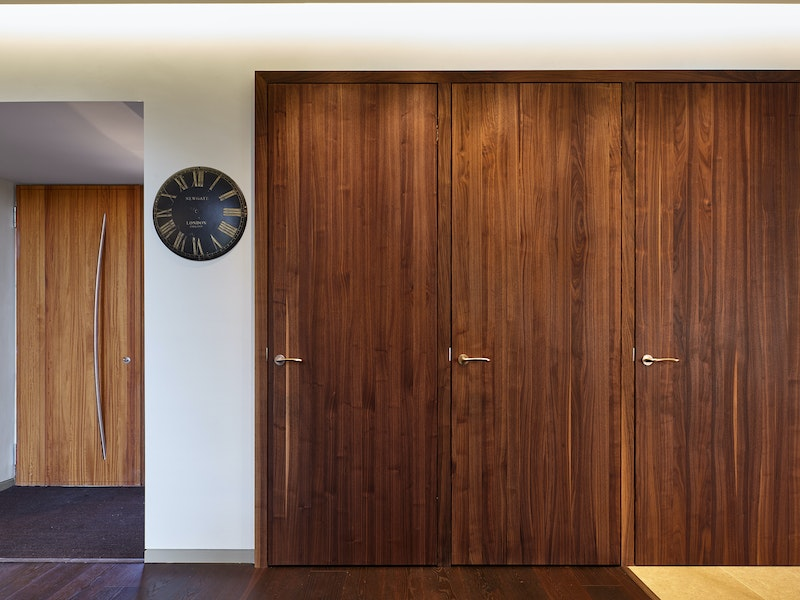 american walnut interior doors with european oak front door