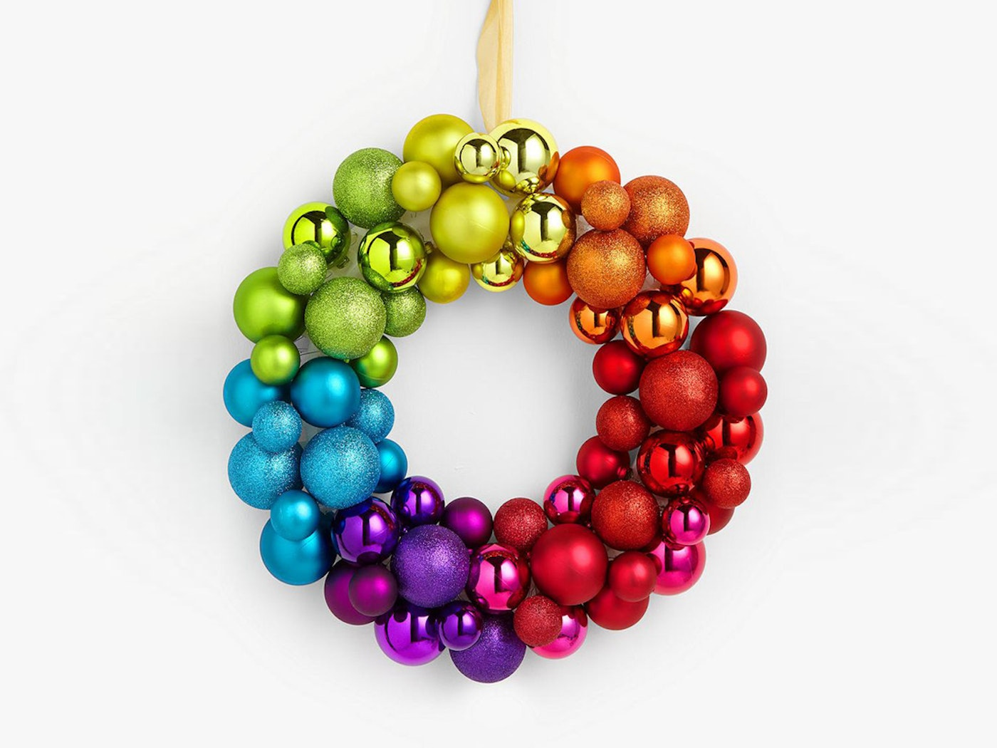 Rainbow Bauble Wreath from John Lewis £25
