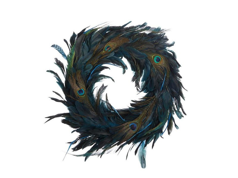 Peacock Feather Wreath from Liberty London £39.95
