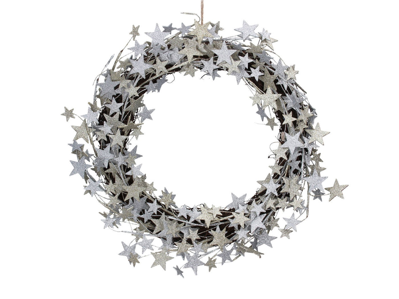 ellajames silver glitter star christmas wreath from notonthehighstreet £85