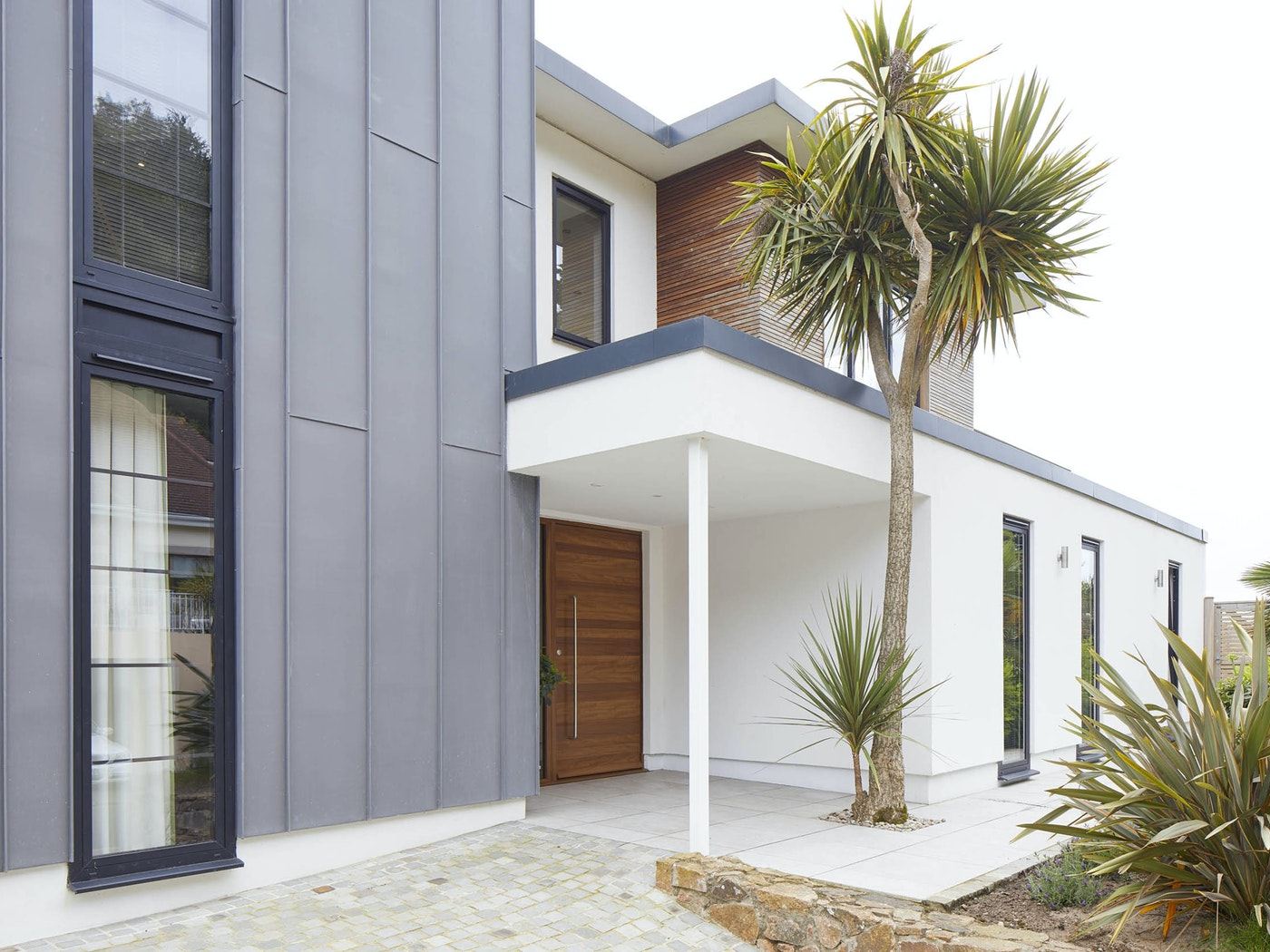 A modern front door canopy for a modern front door