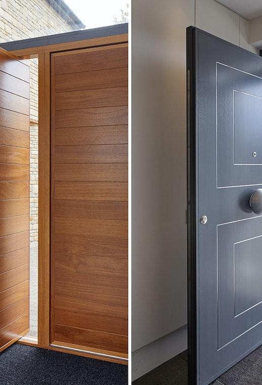 hinged v.s pivot doors