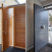hinged v.s pivot doors