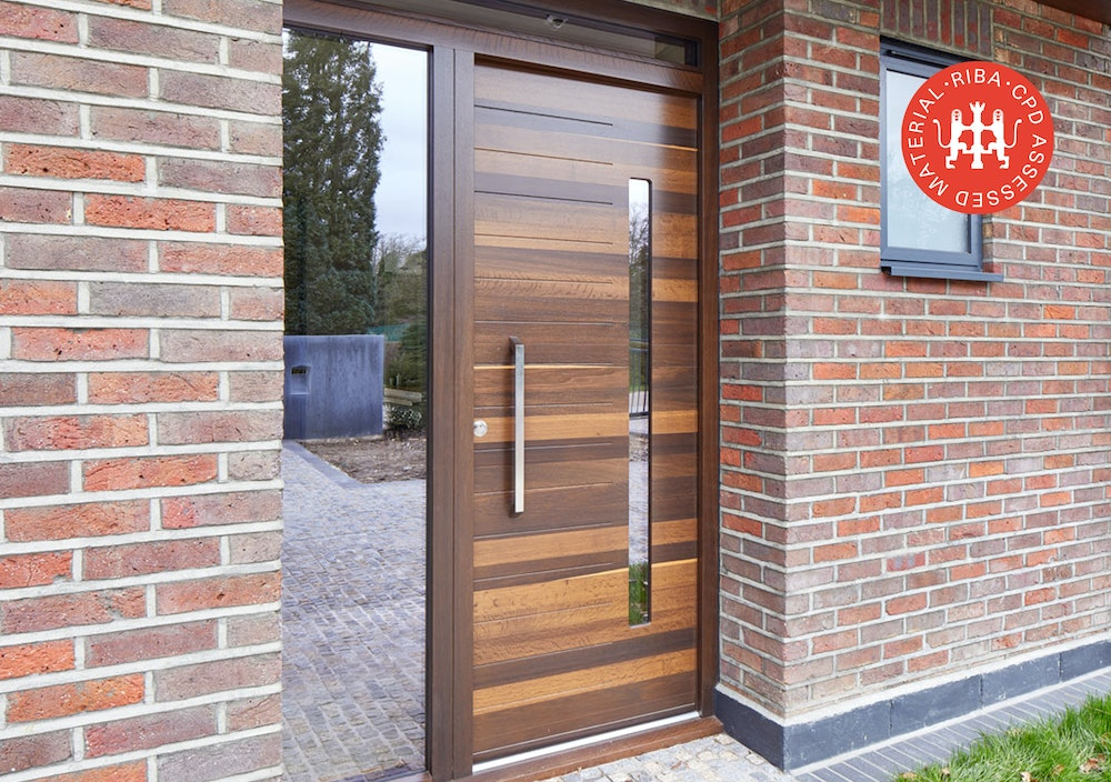 how to choose a door for a brick house urban front