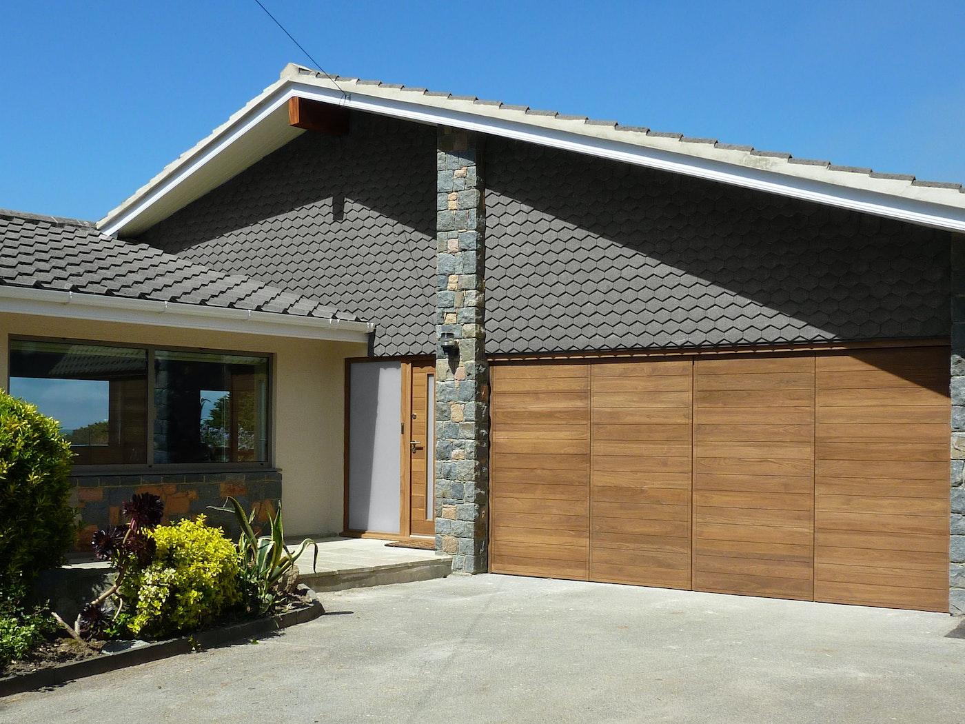 bifold garage doors in a parma design