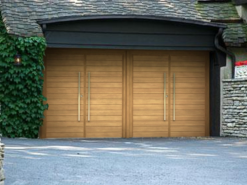 double side hung garage doors
