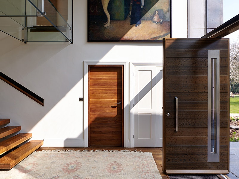 the front door, cupboard and internal doors are all different