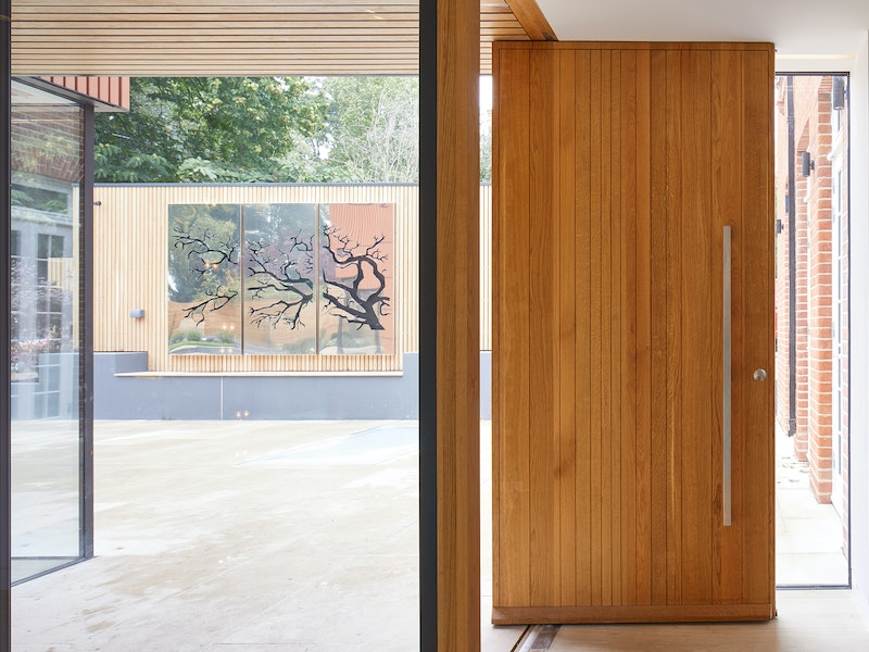 Creating a wow factor with a full height pivot door