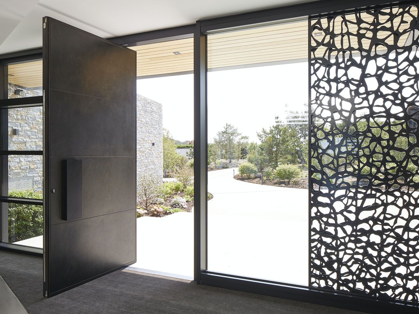Breaking up space with the use of a large or smaller door