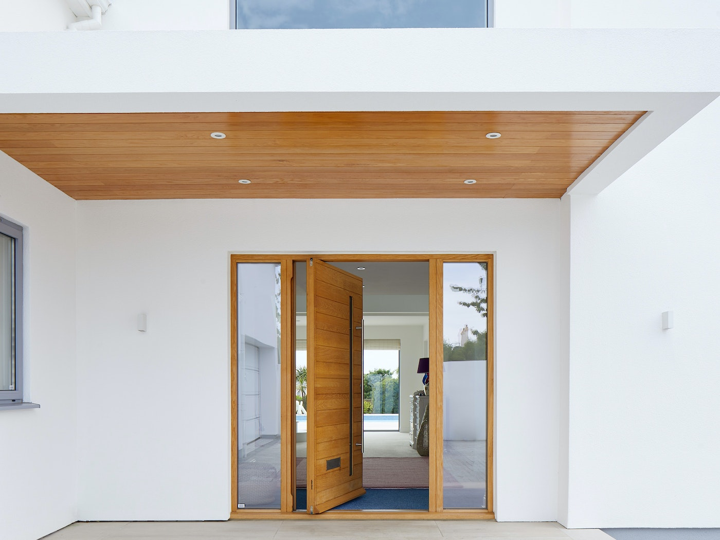 Pivot doors should be installed in a semi or fully protected locations