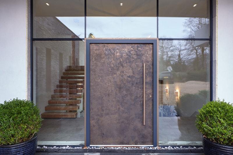 Textured bronze front door exterior   Ref:101   Urban Front