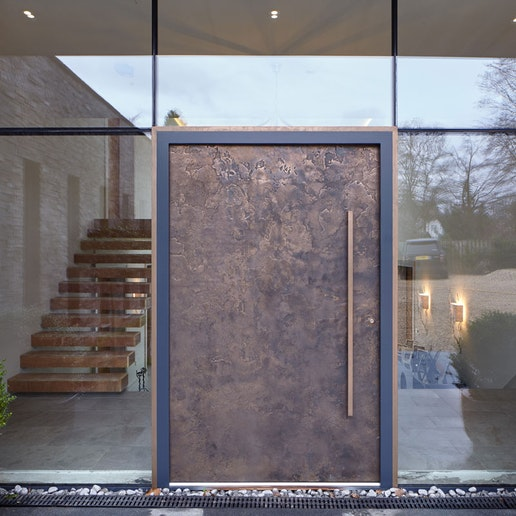 Bronze ref. 101: Modern opulence is the statement of the day with our signature, textured bronze door finish