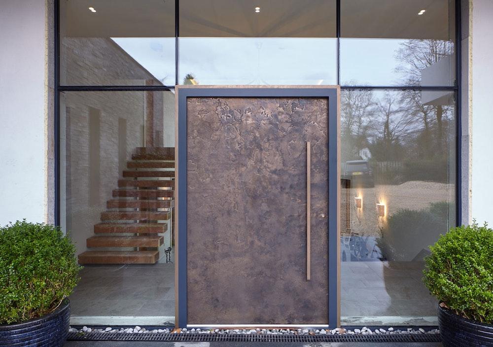 Textured bronze front door exterior | Ref:101 | Urban Front