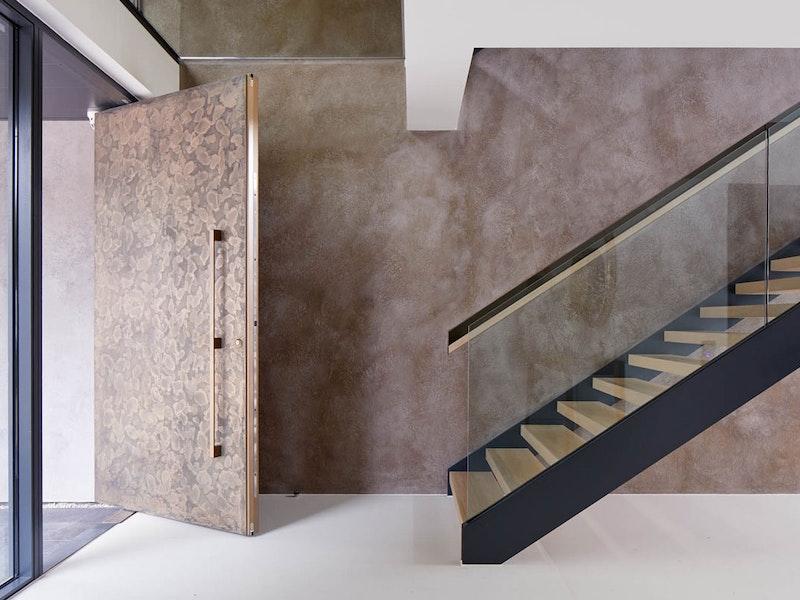 Textured bronze front door interior | Ref:101 | Urban Front