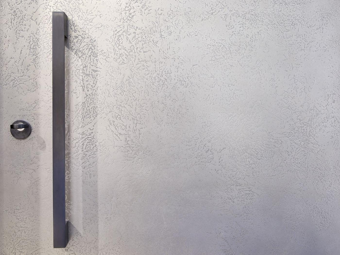 Silver bronze front door detail | Ref:110 | Urban Front