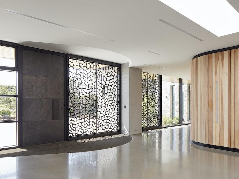 """Copper bronze entry door in our """"Parma Special"""" design"""