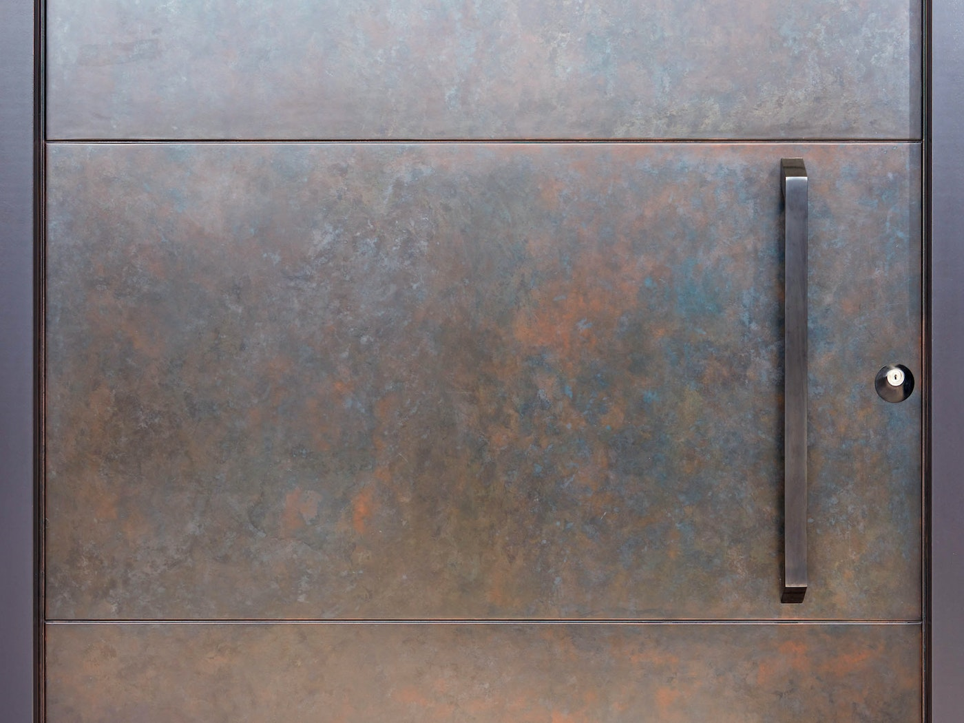This close-up shows some of the unique variations of the metallic finish, with multiple tones working beautifully together