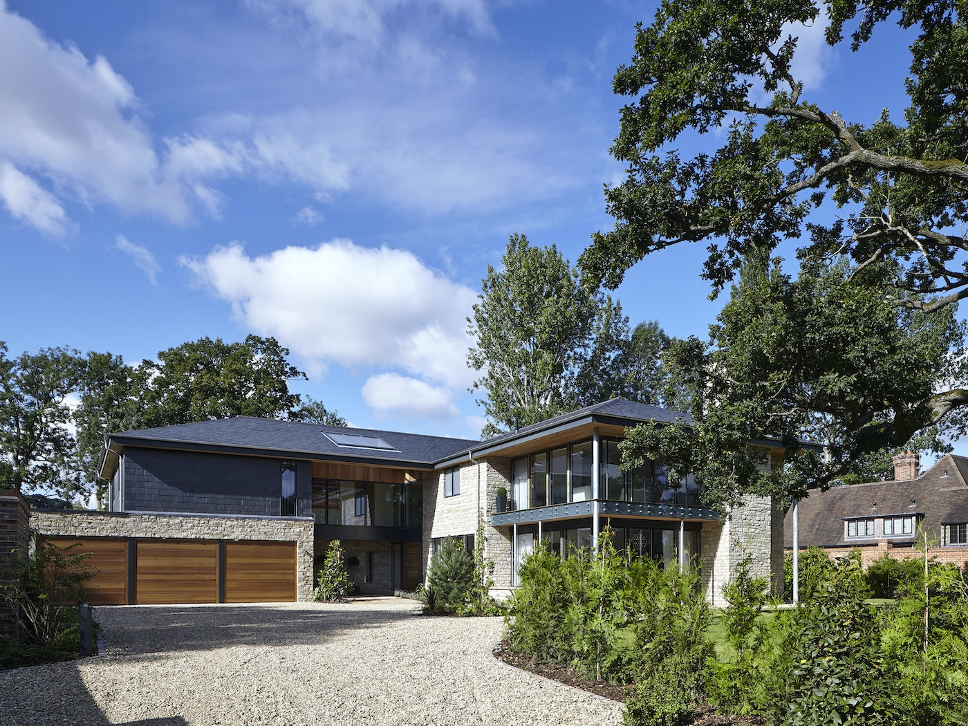 A beautiful construction with matching front & garage doors