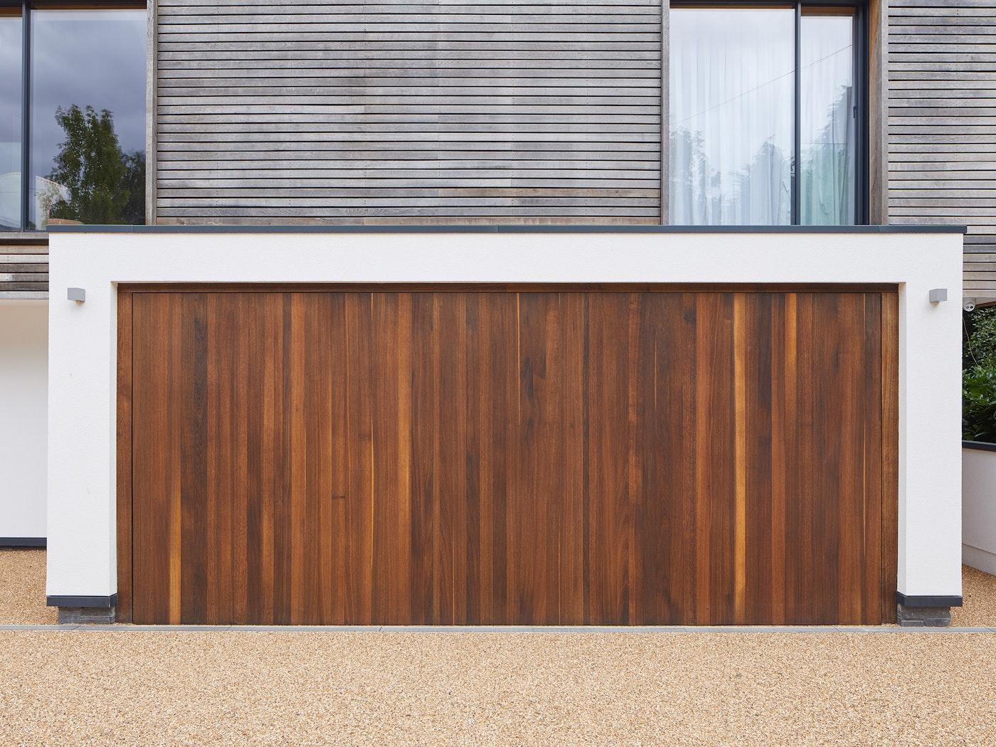 matching fumed oak raw v up and over garage