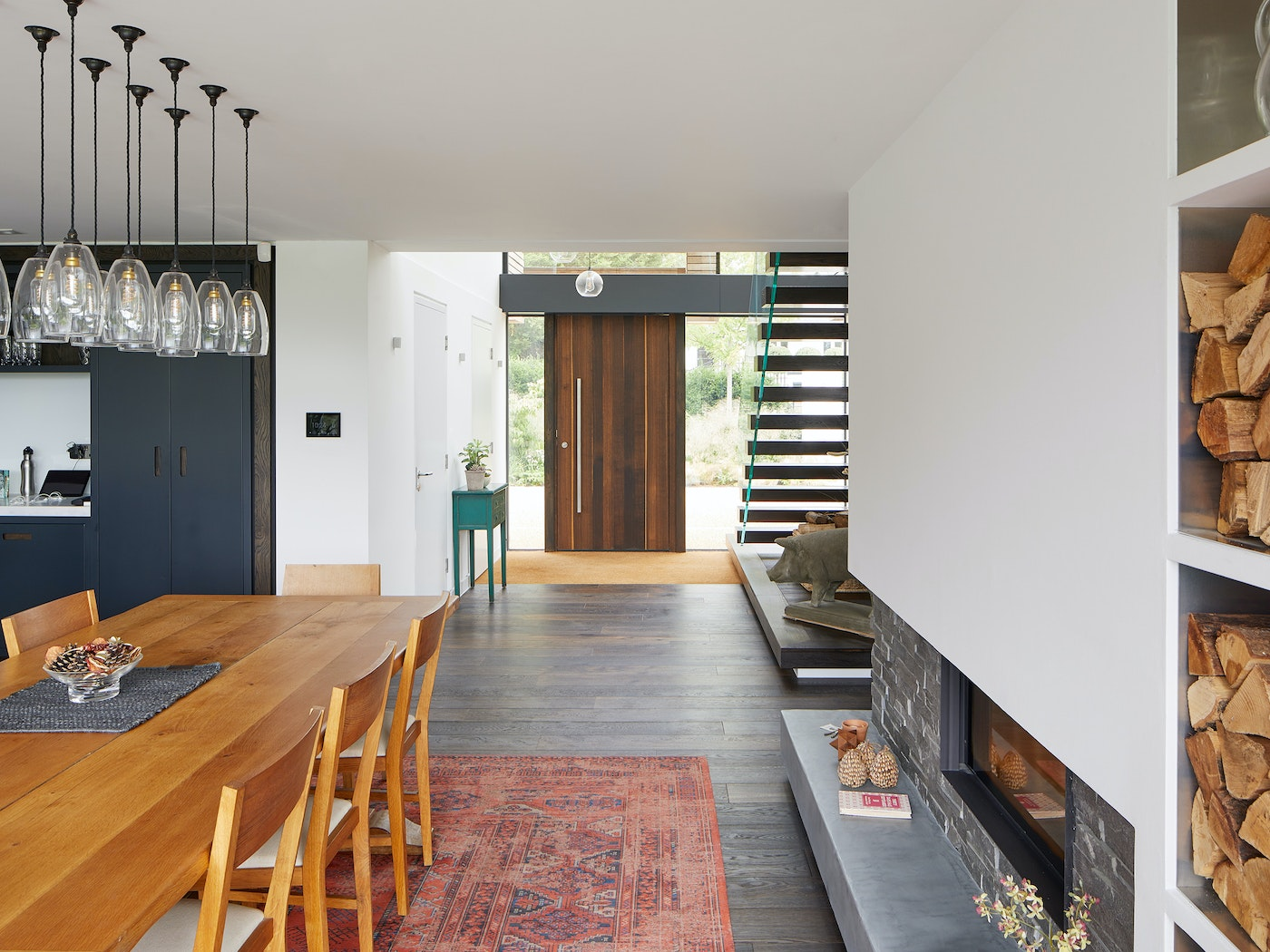 we love this view of the door from kitchen
