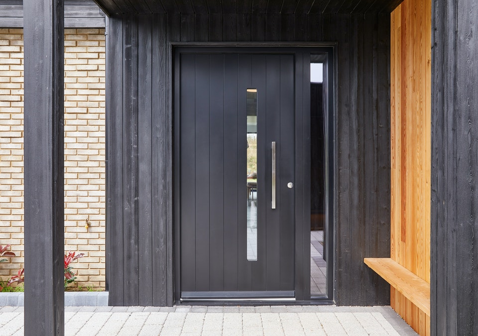 The Terano front door features a glass vision panel