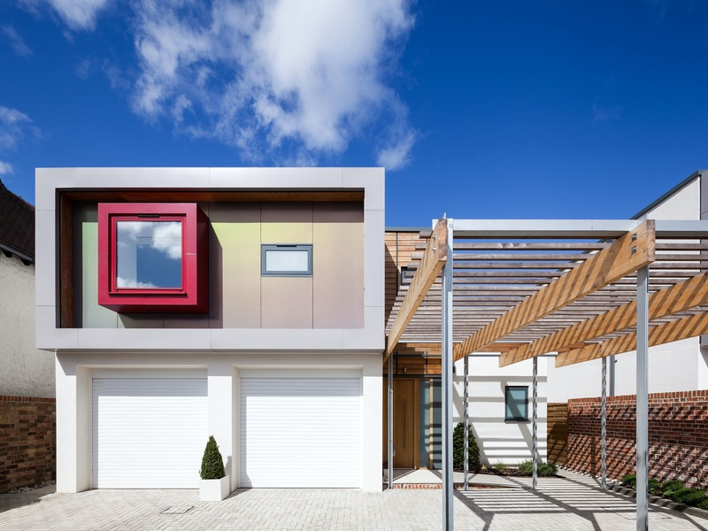 Gorgeous contemporary house with Urban Front's Porto front door