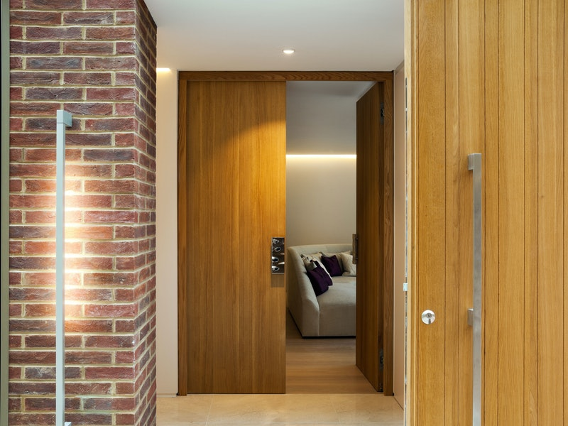 Internal oak double doors