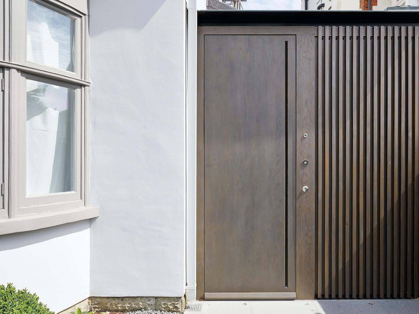 European stained Onyx metallic finish bespoke side door