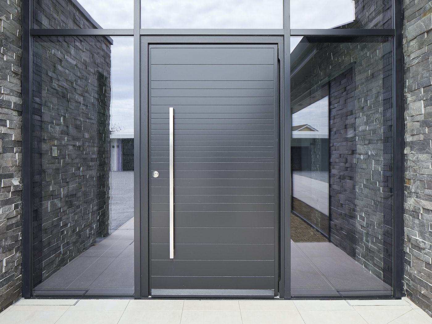 Keeping the door simple was essential to the success of this contemporary home