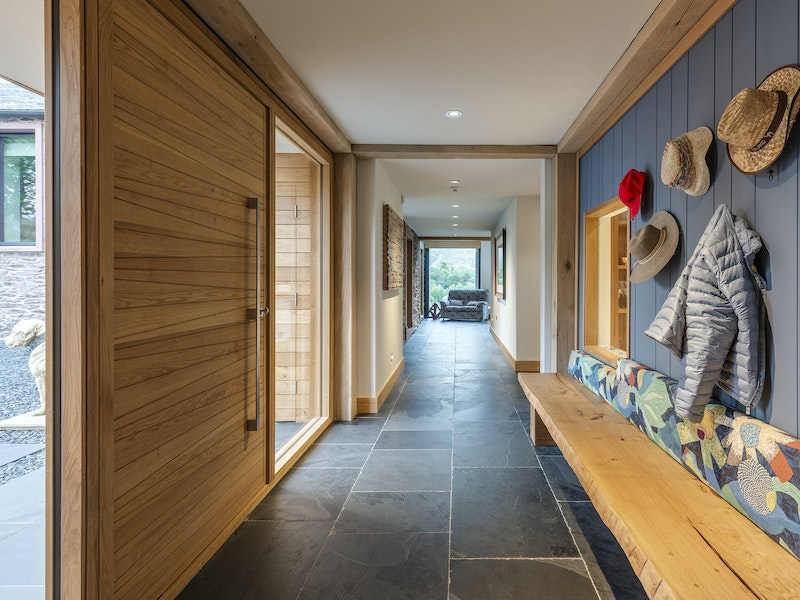 The Milano door design works perfectly in this hallway
