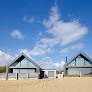 Beautiful contemporary architecture on the beach at Camber Sands