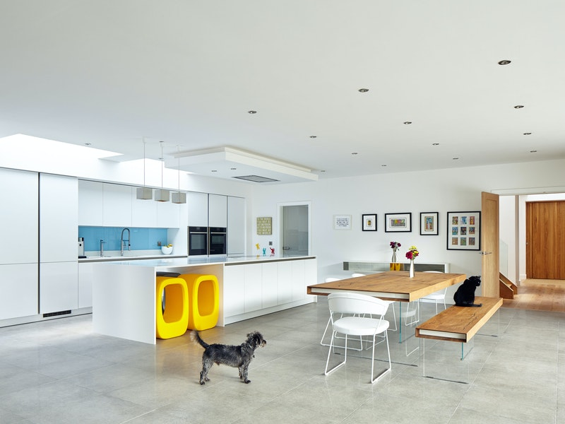 And they've created a lot of light, airy space in the interior