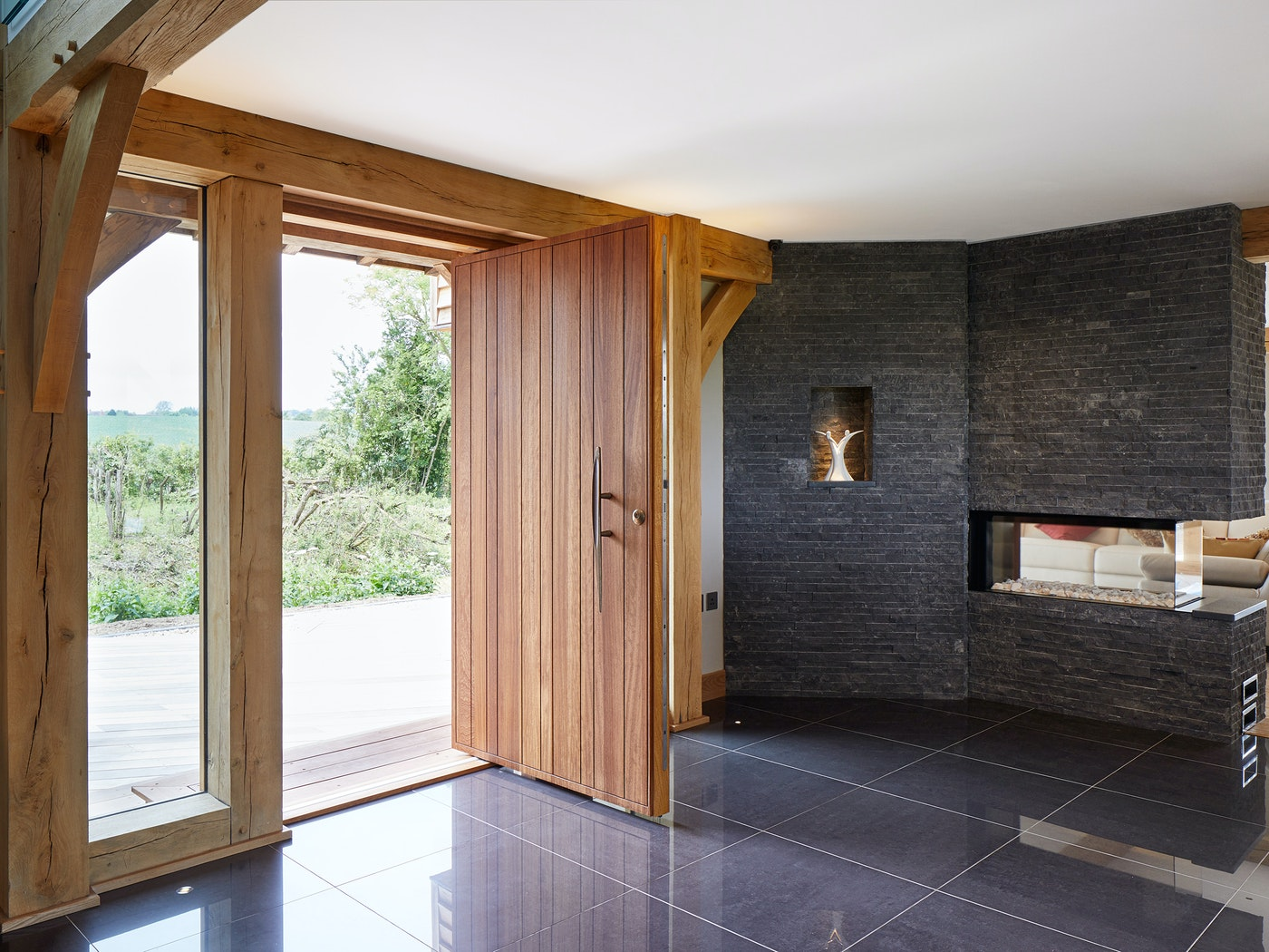 The interior style is more contemporary