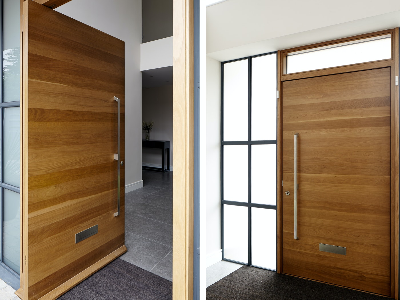 The Raw design has no grooves and depends on the hardwood to shine through with its grain and blonde stripes.