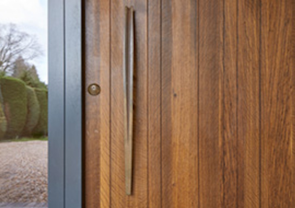 fumed oak wood doors Urban Front thumb