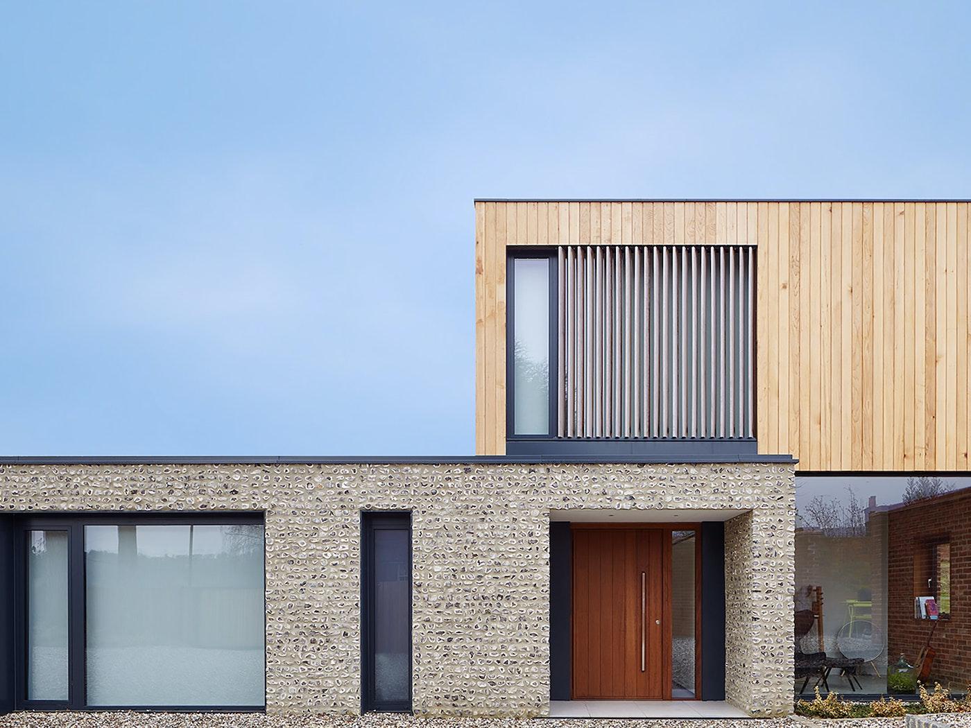 Stunning architectural design featuring Urban Front's iroko front door