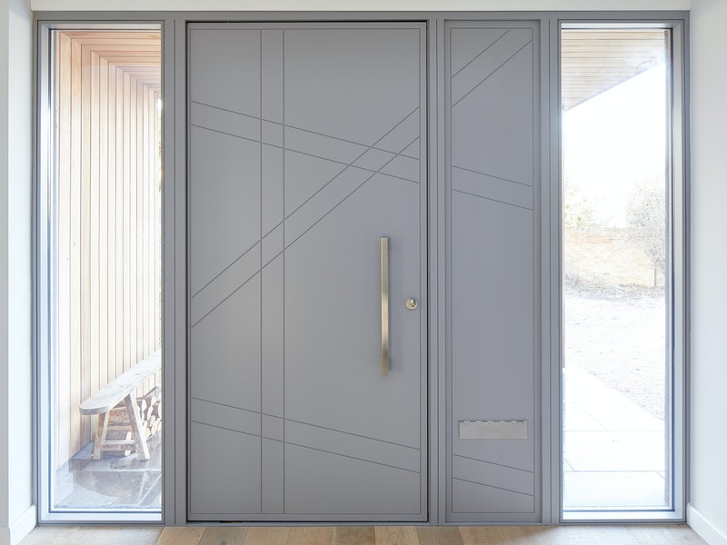 doors with matching glass wood panels 3