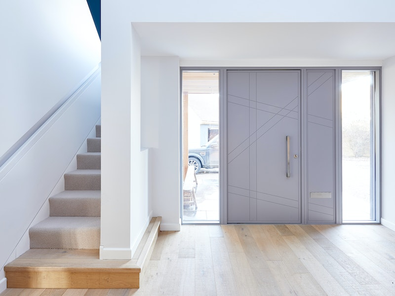 doors with matching glass wood panels 1