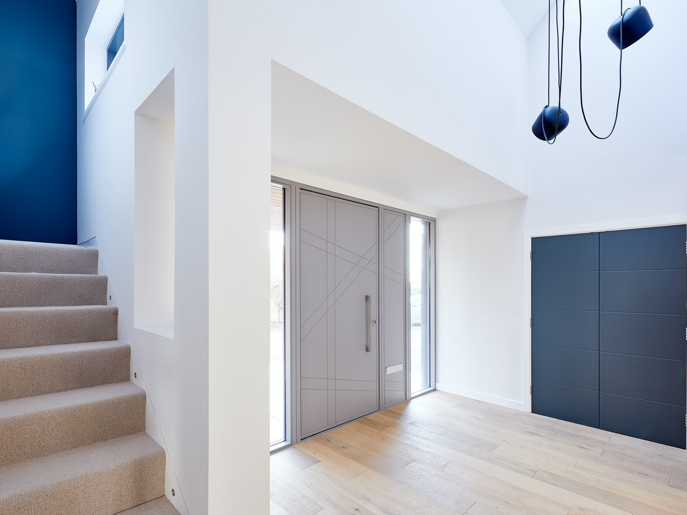 doors with matching glass wood panels 2