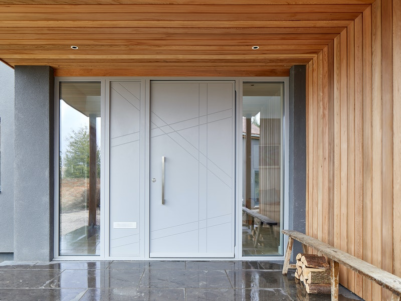 doors with matching glass wood panels 6