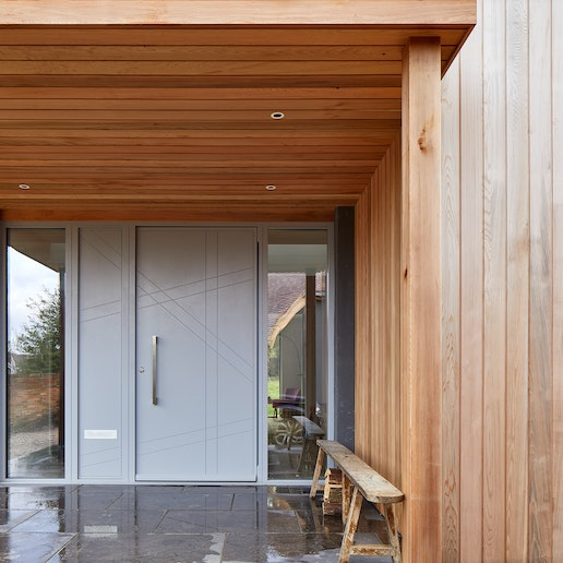 doors with matching glass wood panels 7