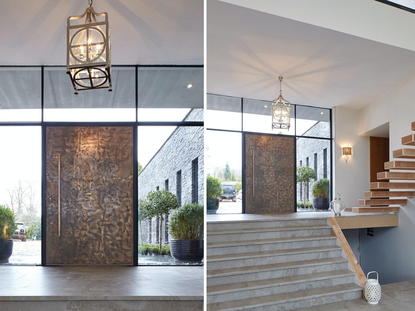 Textured bronze metallic door ( Finish ref: 101)