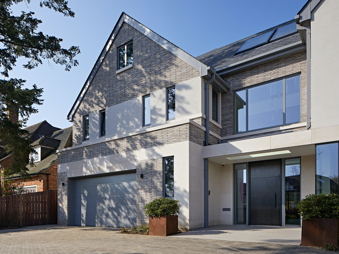 Standing at 3 metres tall, this impressive door is perfectly complementary to the classically contemporary exterior