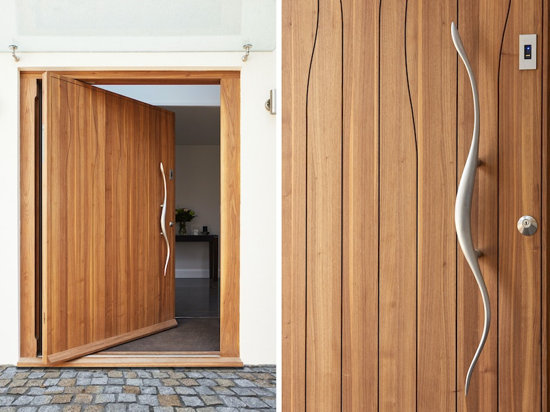 Our Wav design door takes centre stage in this house