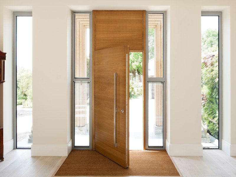 The door provides functionality but doesn't compromise on style