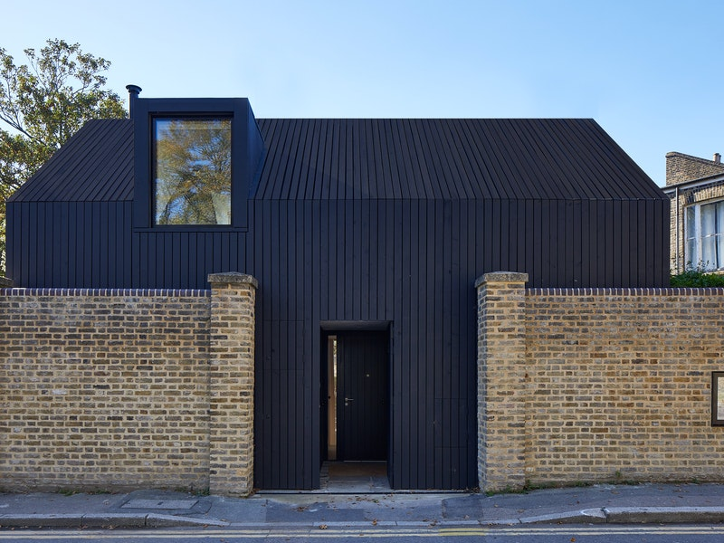 A contemporary black passive house