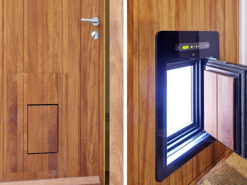 For all animal lovers - this automated pet flap is also passive house certified