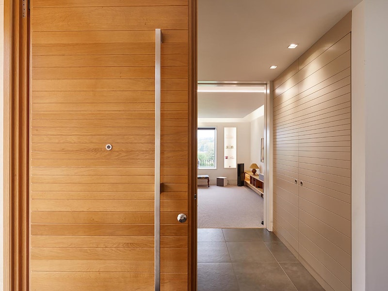 passive house door internal view